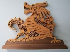 Woodworking Scroll Saw Patterns Free | Dragon Silhouette by Mark Weyers Creative Woodworks & Crafts 1998-09 ...