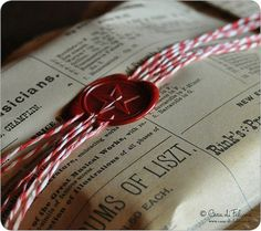"""Wax seal for wrapping, we already have an """"O"""" seal :)"""