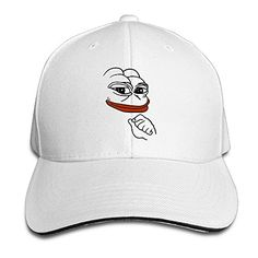 Pepe Meme Frog Adult Sandwich Snapback