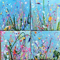 Little pops of valentines gorgeousness ❤️ ideas Yvonne Coomber - Contemporary Artwork, Painting & Prints Spring Art, Summer Art, Artwork Prints, Painting Prints, Canvas Paintings, Canvas Artwork, Framed Prints, Cherry Blossom Painting, Contemporary Artwork