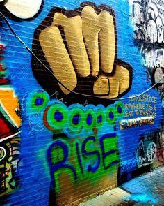 Rise… Graffiti Alley, Cambridge, MA #graffitialley #graffiti #streetart #rise #canon #sigmalens #sigmaartlens #injustice #rust #cambridgema