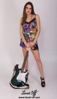 Rock'n mode Level Off Ensemble en soie top + jupe Bora Bora