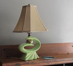 Atomic age - table lamp - chartreuse - mid century decor - Eames Era by TheWillies on Etsy https://www.etsy.com/listing/242741977/atomic-age-table-lamp-chartreuse-mid