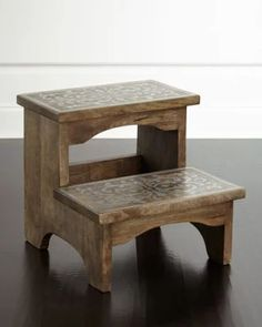 I need this for Lucy. G G Collection Wood & Metal Step Stool Metal Steps, Wood Steps, Metal Step Stool, Wood Furniture, Furniture Design, Small Wood Projects, Spanish Style Homes, Wooden Stools, Wooden Stool Designs