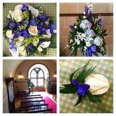 Wedding flowers at Dalhousie Castle