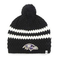 38d90196fda Women s Knit Baltimore Ravens Beanie Cap