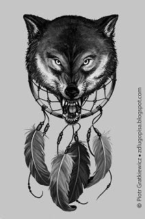 Z długopisa: Wilkowe tatoo :)
