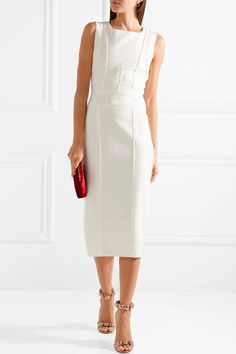 Narciso Rodriguez   Paneled wool midi dress   NET-A-PORTER.COM