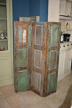 Muebles : Biombo fabricado con maderas antiguas n 14
