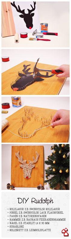 Weil ein Nagel #mehrsein kann als einfach nur ein Nagel, wird mit ihm ein Holzbrett zum echten Weihnachtshingucker - unser DIY Rudolph.