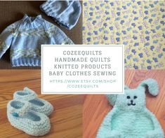 Handmade Quilts Knitted Products Baby Clothes Sewing by CozeeQuilts Sewing Baby Clothes, Handmade Items, Handmade Gifts, Amazing Gifts, Kids Gifts, Baby Kids, Best Gifts, Etsy Seller, Crochet Hats