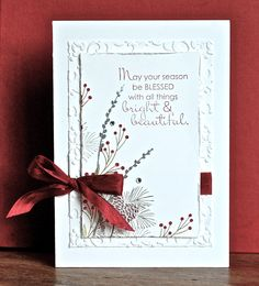 Stampin' Up ideas and supplies from Vicky at Crafting Clare's Paper Moments: Autumn Days white on white