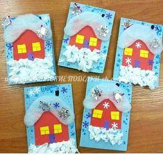 Winter Crafts For Kids, Winter Kids, Winter Art, Winter Theme, Art For Kids, Craft Activities For Kids, Winter Activities, Christmas Activities, Preschool Crafts