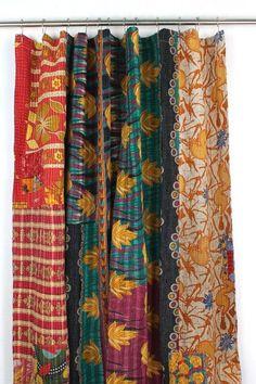 Melange Home One-of-a-Kind Kantha Shower Curtain