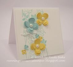 3-Dimensional Flowers with stamping - this is beautiful