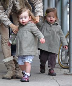 sarah jessica parker and her twins | look at the little pink noses