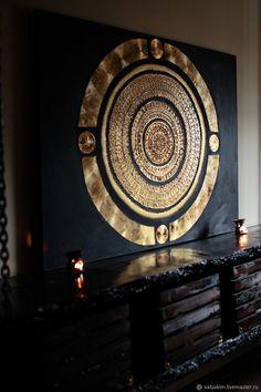 Gold Leaf Art, Diy Canvas Art, Mural Art, Wall Mural, Mandala Design, Islamic Art, Wall Design, Art Decor, Abstract Art