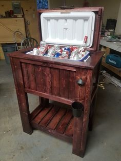 My first woodworking project. Cost around $100 + an old cooler.