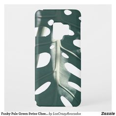 Funky Pale Green Swiss Cheese Plant Case-Mate Samsung Galaxy Case