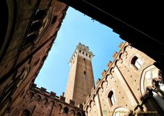 The courtyard of the Palazzo Pubblico and Torre del Mangia