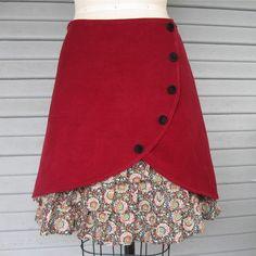 ruffle skirt...cute idea, dont like choice of fabric.