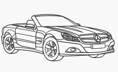 Mercedes-benz Clk Gtr Coloring Pages Gallery - Coloring For Kids 2019 Sports Coloring Pages, Cars Coloring Pages, Animal Coloring Pages, Coloring Pages For Kids, Coloring Sheets, Mercedes S Class, Mercedes Car, Pictures Of Sports Cars, Paintings