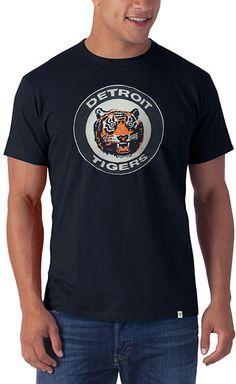 17a0e634 Detroit Tigers Men's 47 Brand Stitched Vintage Classic Logo Navy Tee T-Shirt