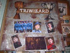 Triwizard Tournament Harry Potter scrapbook