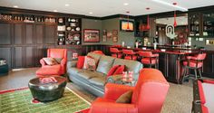 The Ohio State University has a huge following. This OSU game room would be any sports' fans favorite...as long as they root for the Buckeye...