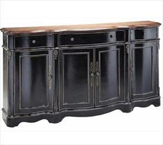 Merveilleux Black Buffet Table