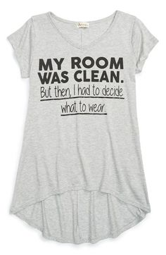 Ten+Sixty+Sherman+'My+Room+Was+Clean'+Graphic+High/Low+Tee+(Big+Girls)+available+at+#Nordstrom