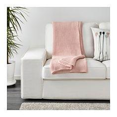 IKEA - INGABRITTA, Plaid, , Zachte gebreide plaid die lekker aanvoelt tegen de huid.