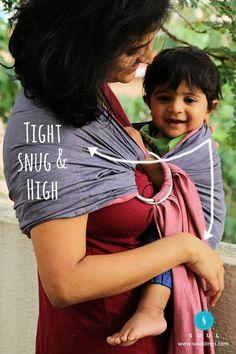Tight, snug and high #RingSlingIndia