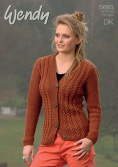 Cable Cardigans in Wendy Merino DK - 5683. Discover more Patterns by Wendy at LoveKnitting. The world's largest range of knitting supplies - we stock patterns, yarn, needles and books from all of your favorite brands.
