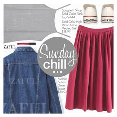 """""""Sunday Chill"""" by pokadoll ❤ liked on Polyvore featuring Converse and Lipstick Queen"""