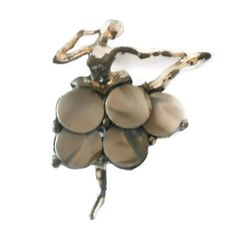 Mother of Pearl ballerina brooch pin in the by maggiescornerstore, $7.00
