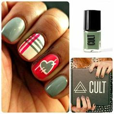 Loving these nails, cute eclectic look!      |Try cult cosmetics blackbox for only $0.01!  Use code PENNYPOLISH