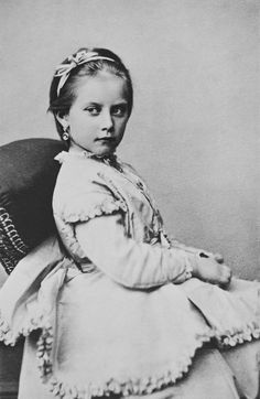 Princess Charlotte of Prussia, November 1868 [in Portraits of Royal Children Vol.13 1868-69] | Royal Collection Trust