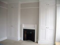 Victorian style fitted wardrobe, in bedroom alcoves, full height