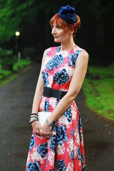 1ab4a2a8610 Wedding guest outfit - Jaeger style peony print floral top and skirt dress. Not  Dressed As Lamb