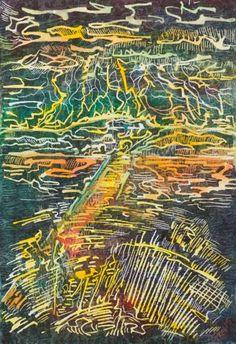 """Saatchi Art Artist John Groves; Painting, """"Mountain Storm"""" #art"""