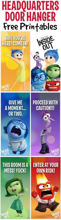 Inside Out Door Hanger Printable