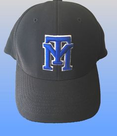 270681778ab Middle Tennessee State University MTSU Fitted Baseball Hat Cap L XL 7-3 8