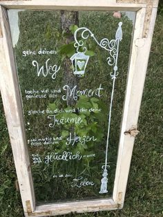 Deko, Garten, shabby chic, Muttertag, alte Fenster in Bayern - Kastl b Kemnath Old Windows, Pin Collection, Starters, Mother Nature, Outdoor Gardens, Ladder Decor, Chalkboard Quotes, Cool Pictures, Beautiful Pictures