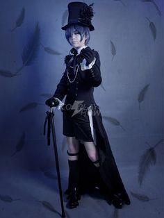 Kuroshitsuji Ciel Phantomhive Cosplay Costume - $108,26