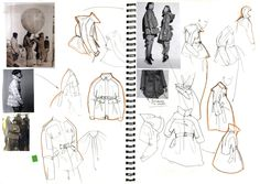 Fashion Sketch Book - fashion design sketches and idea development; jacket silhouettes // Alexander Lamb