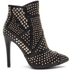 School Of Rock Studded Pointy Booties