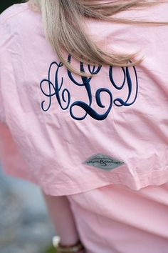 Monogrammed Fishing Shirt! I think that these make the cutest coverups for bathing suits.