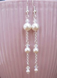 Swarovski Crystals White Pearl and AB Crystal by MoYuenCreations, $9.00