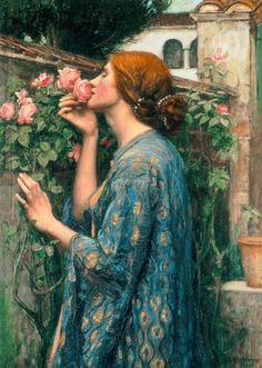 John William Waterhouse, The Soul of the Rose. I had a print of this at the top of the stairs in my Edwardian house in Birmingham. I'd like to replace it.